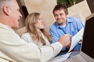 Couple receive advice on Offset Mortgages